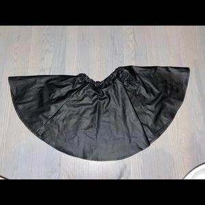 Faux Leather Bubble Skirt